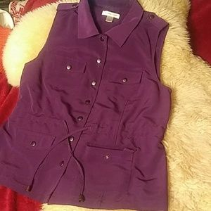 Purplevest by Christopher & banks sz L